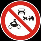 2216 - Prepovedan promet za določene vrste vozil oziroma določene udeležence cestnega prometa