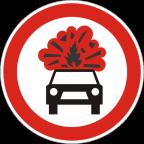 2219 - Prepovedan promet za vozila, katerih tovor vsebuje eksplozivne ali lahko vnetljive snovi