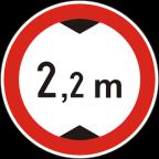 2221 - Prepovedan promet za vozila, katerih skupna višina presega določeno višino