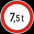 2222 - Prepovedan promet za vozila, katerih skupna masa presega določeno maso