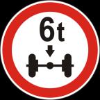 2223 - Prepovedan promet za vozila, katerih osna obremenitev je večja od določene obremenitve
