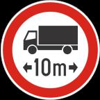 2224 - Prepovedan promet za vozila ali skupine vozil, ki presegajo določeno skupno dolžino