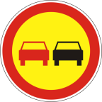 2228-R - Prepovedano prehitevanje motornih vozil