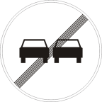 2229 - Prenehanje prepovedi prehitevanja motornih vozil