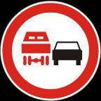 2230 - Prepovedano prehitevanje za tovorna vozila