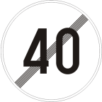 2233-4 - Prenehanje omejitve hitrosti