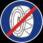 2308 - Prenehanje uporabe snežnih verig