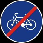 2310 - Konec kolesarske poti ali steze