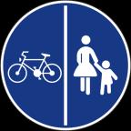 2313 - Znak se lahko postavlja tudi samo na levi strani steze.