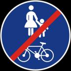 2316 - Konec površine za promet pešcev in kolesarjev