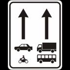 2408 - Prometni pasovi, namenjeni določeni vrsti vozil