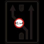 2409-4 - Omejitve in prepovedi na prometnem pasu