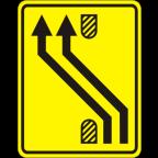 3305-2-R - Preusmeritev prometa na drugo smerno vozišče