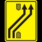 3305-3-R - Preusmeritev prometa na drugo smerno vozišče
