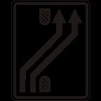 3305-3 - Preusmeritev prometa na drugo smerno vozišče