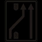 3305-5 - Preusmeritev prometa na drugo smerno vozišče