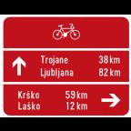 3404-1 - Kažipotna tabla za kolesarje