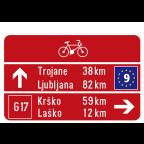 3404 - Kažipotna tabla za kolesarje