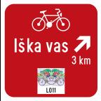 3405-3 - Kažipot za kolesarje