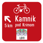 3405-4 - Kažipot za kolesarje