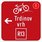 3406-1 - Kažipot za kolesarje