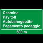3421 - Predznak za plačilo cestnine