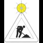 7202 - Utripajoča rumena luč