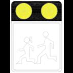 7205-1 - Poudarjen prometni znak z opozorilnimi lučmi