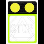 7205 - Poudarjen prometni znak z opozorilnimi lučmi