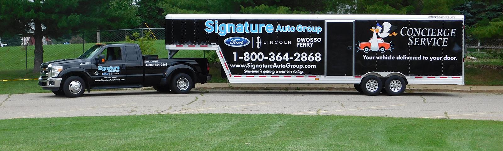 Signature Auto Delivery Truck