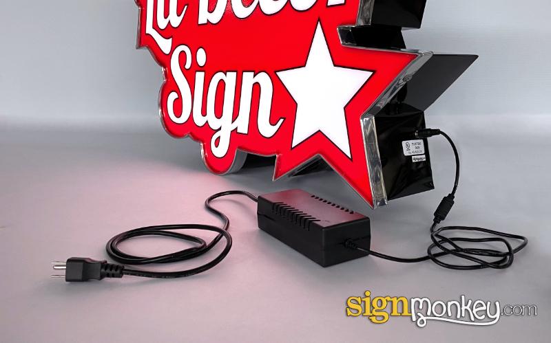 Lit Decor Sign Power