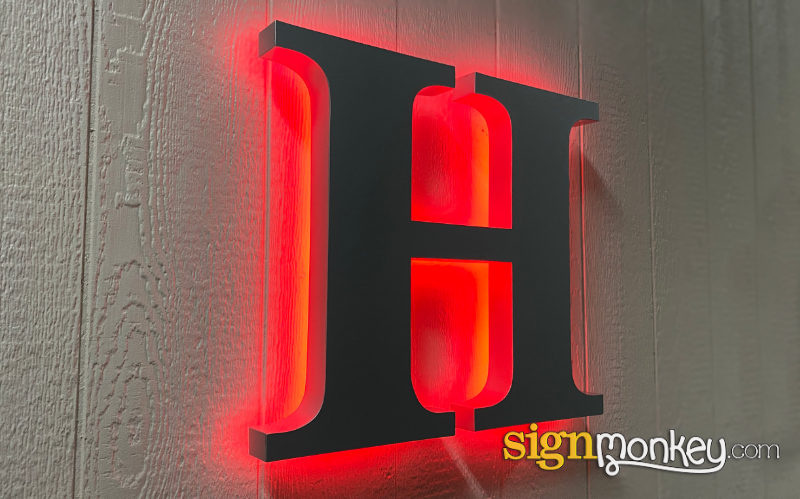 Halo Lit LED Sign Construction