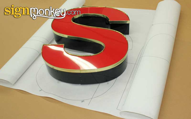 Illuminated Sign Letter Mounting Pattern