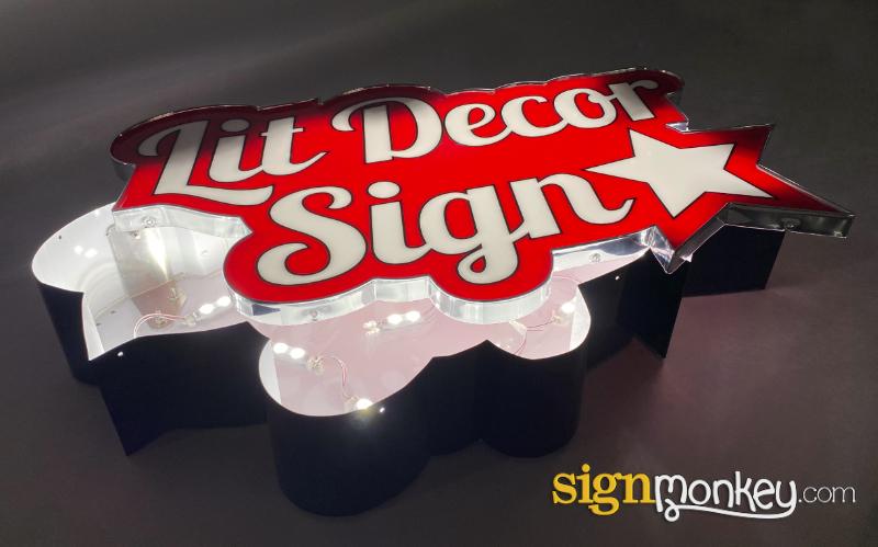 LED Lit Decor Sign Illumination & Power