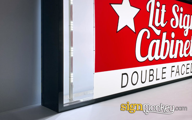 Lit Shaped Cabinet Sign Faces