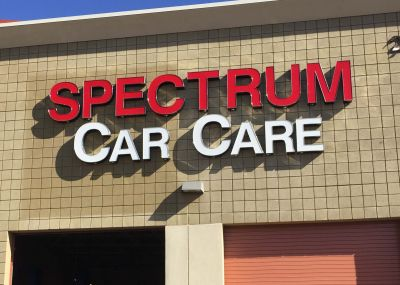 Spectrum Car Car Channel Letter Sign