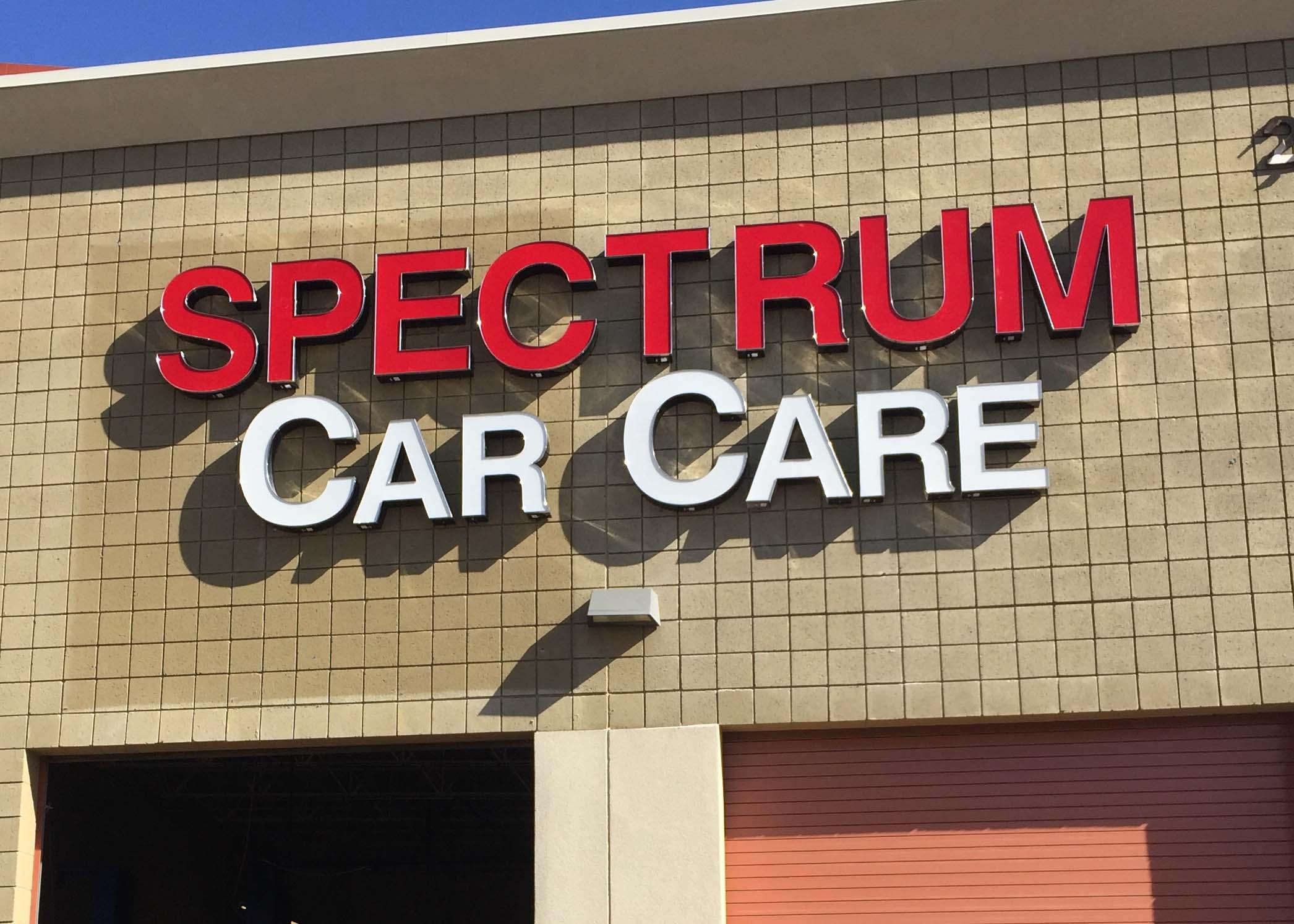 Spectrum Car Car Channel Letter Sign