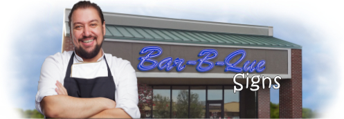 Buy Bar-B-Que Lit Signs | Shop, Price and Customize Barbeque Signs | SignMonkey.com