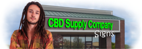 Buy CBD Lit Signs | Shop, Price and Customize CBD Signs | SignMonkey.com