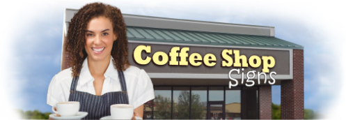 Buy Coffee Shop Lit Signs | Shop, Price and Customize Coffee Shop Signs | SignMonkey.com