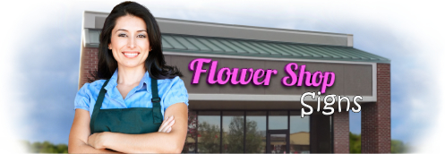 Buy Florist Lit Signs | Shop, Price and Customize Flower Shop Signs | SignMonkey.com