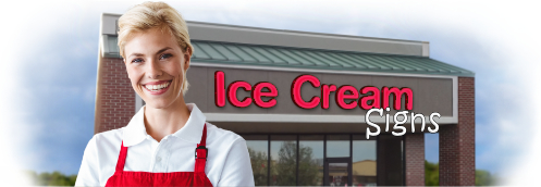 Buy Ice Cream Lit Signs | Shop, Price and Customize Ice cream Signs | SignMonkey.com