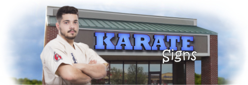 Buy Karate Lit Signs | Shop, Price and Customize Karate Studio Signs | SignMonkey.com