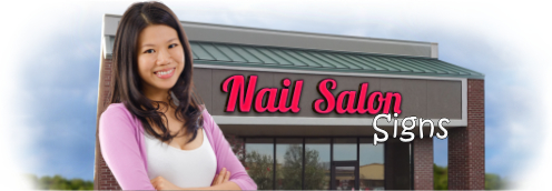 Buy Nail Salon Lit Signs | Shop, Price and Customize Nail Signs | SignMonkey.com