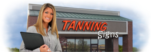 Buy Tanning Lit Signs | Shop, Price and Customize Tanning Signs | SignMonkey.com