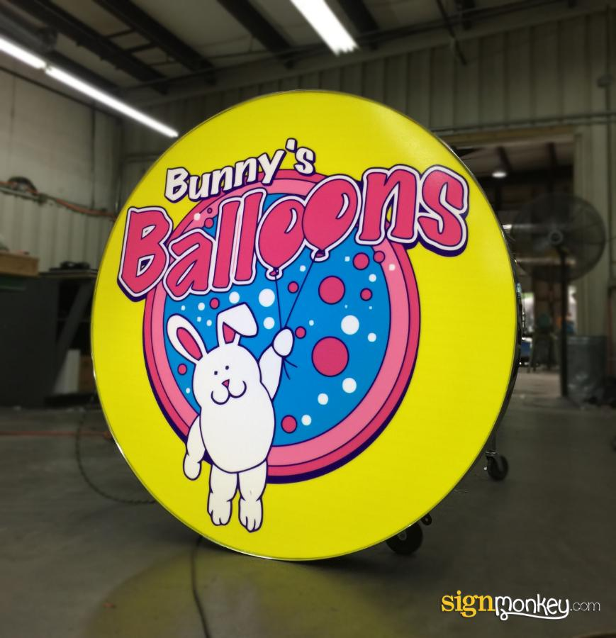 Self Contained Signs, Custom Signs, Bright Signs, Pretty Signs, Balloon Signs, Bunny Signs, Company Signs, Business Signs, Pink Signs, Yellow Signs, Shape Signs, Round Signs, Circle Signs, Signmonkey Signs, Signmonkey, Large Signs, Cheap Signs, Online Signs, Build Sign Online, Customizable Signs