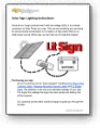 Solar channel letters instructions, solar sign converstion, lit solar sign