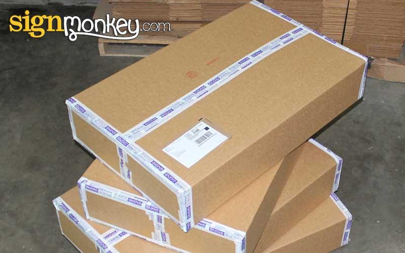 EZLit Channel Letters UPS box shipment