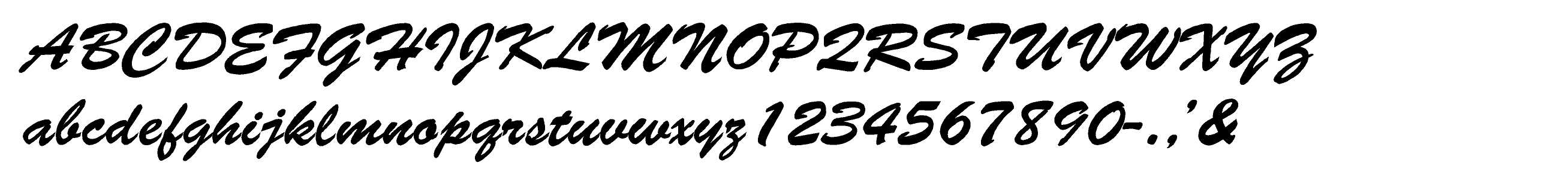 Brush Script Standard EZLit Type Style
