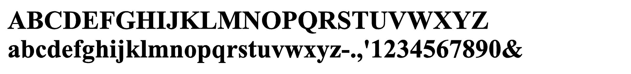 Time Bold Standard EZLit Type Style